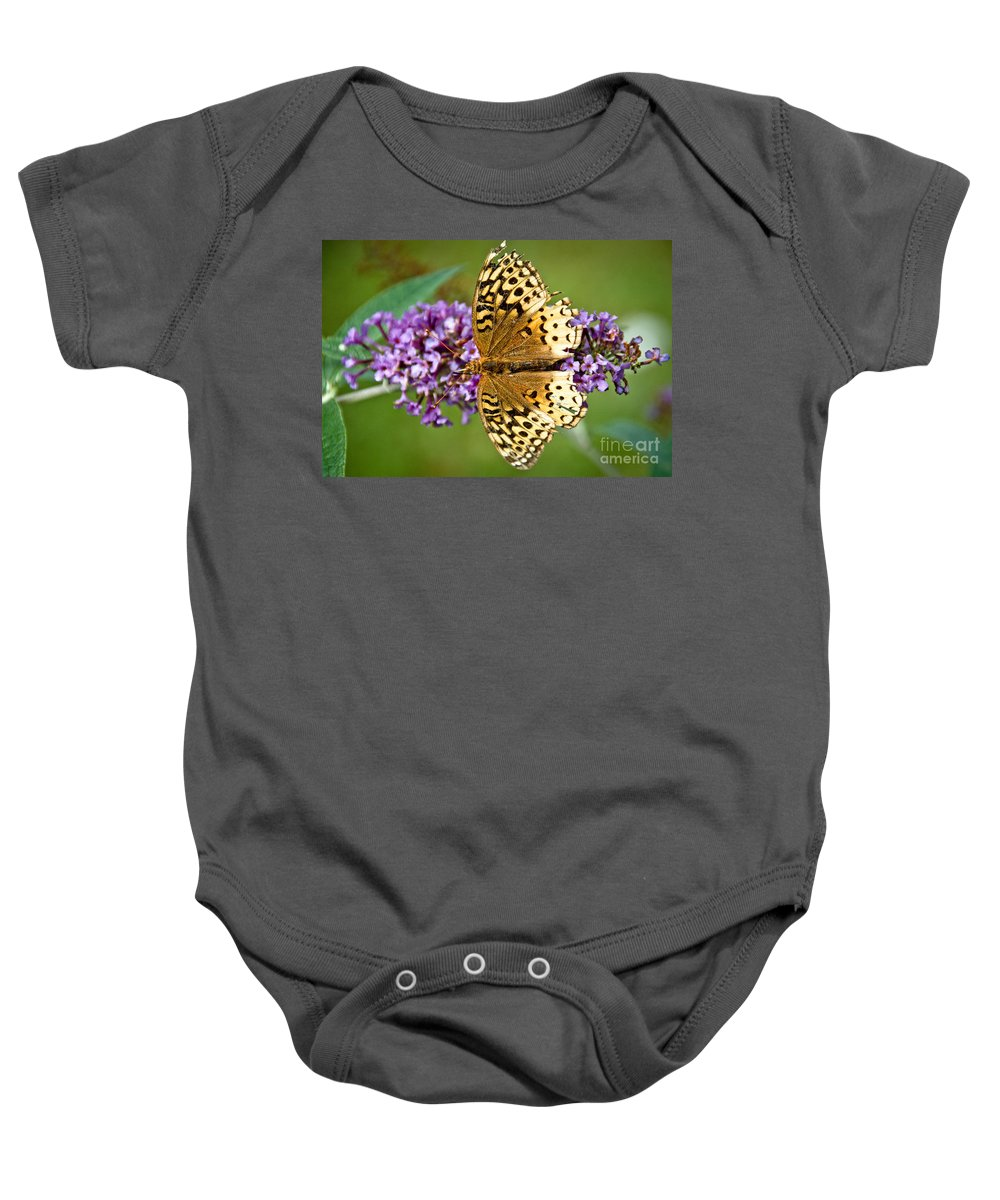 Baby Onesie featuring the photograph From Above by Cheryl Baxter