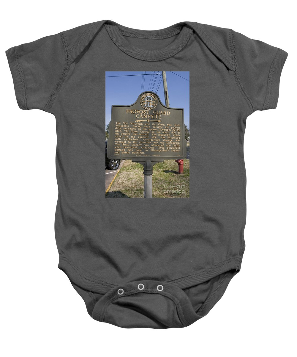 Travel Baby Onesie featuring the photograph Ga-005-16 Provost Guard Campsite by Jason O Watson