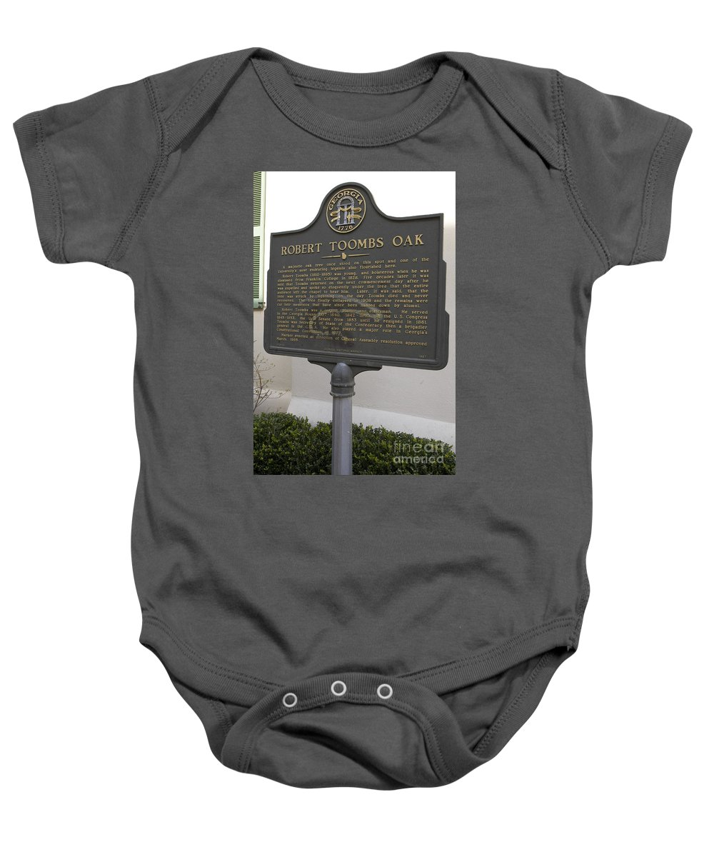 Travel Baby Onesie featuring the photograph Ga-029-15 Robert Toombs Oak by Jason O Watson