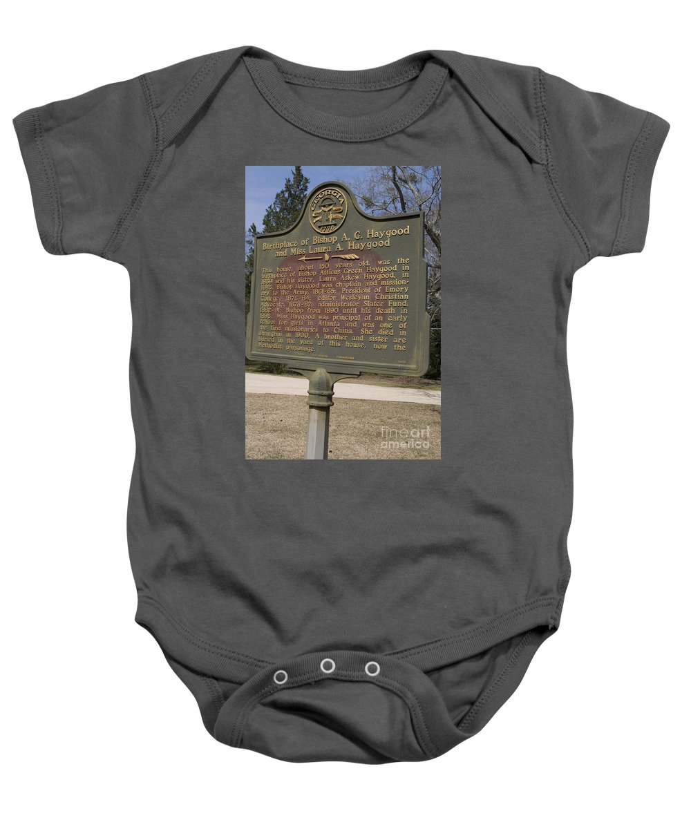 Travel Baby Onesie featuring the photograph Ga-108-2 Birthplace Of Bishop A. G. Haygood And Miss Laura A. Haygood by Jason O Watson