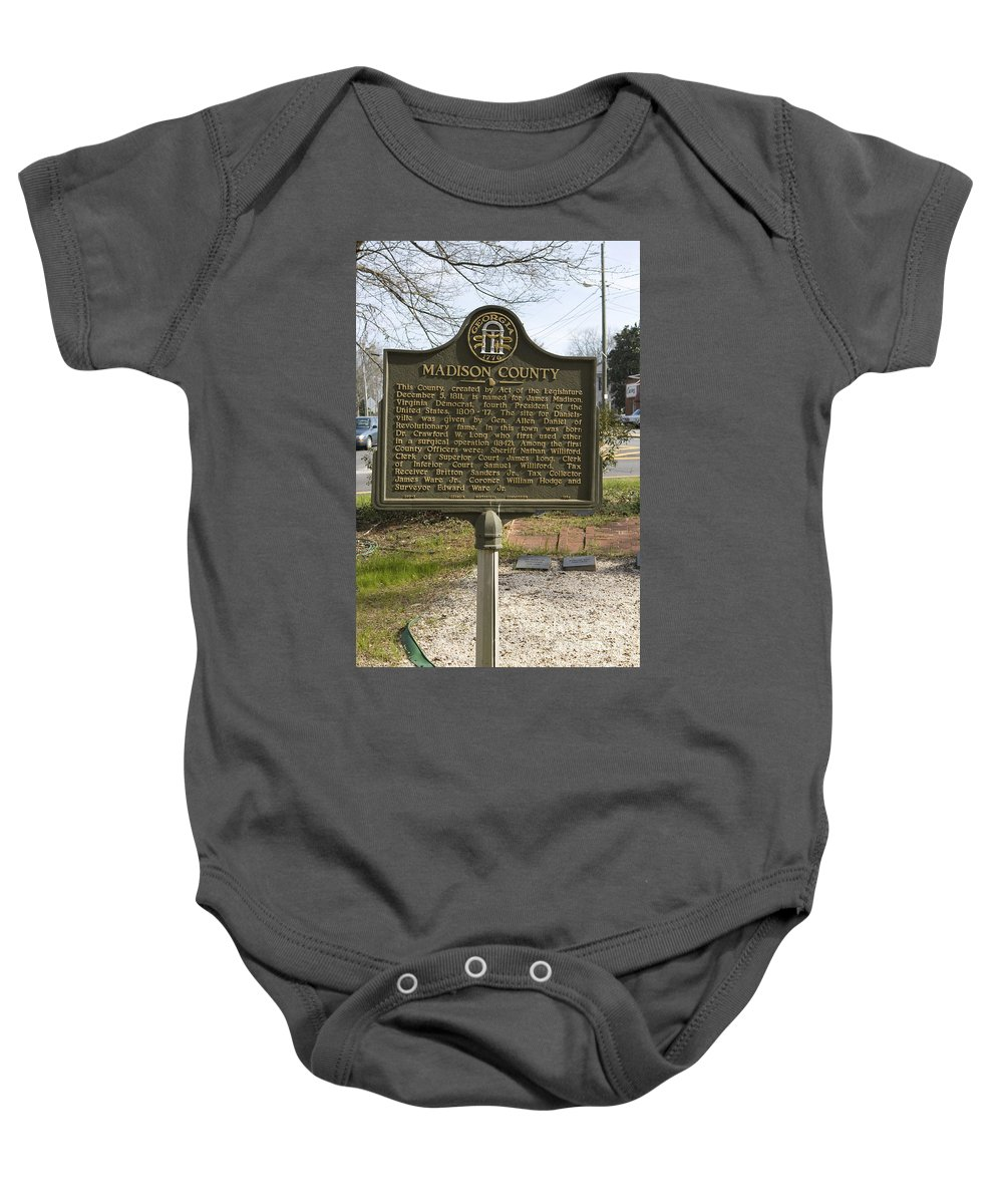 Travel Baby Onesie featuring the photograph Ga-97-1 Madison County by Jason O Watson