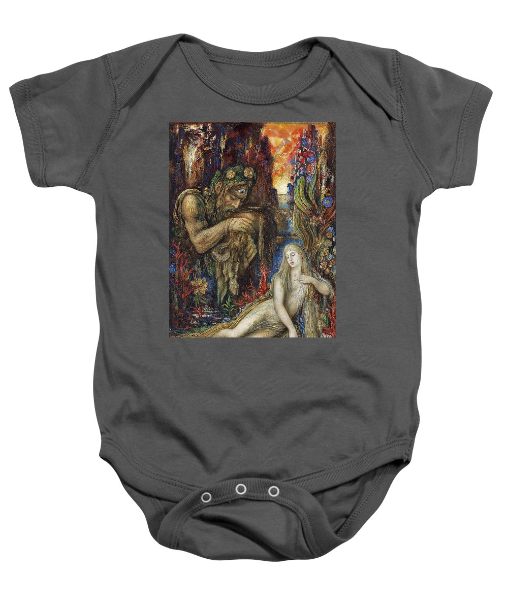 Gustave Moreau Baby Onesie featuring the painting Galathea by Gustave Moreau