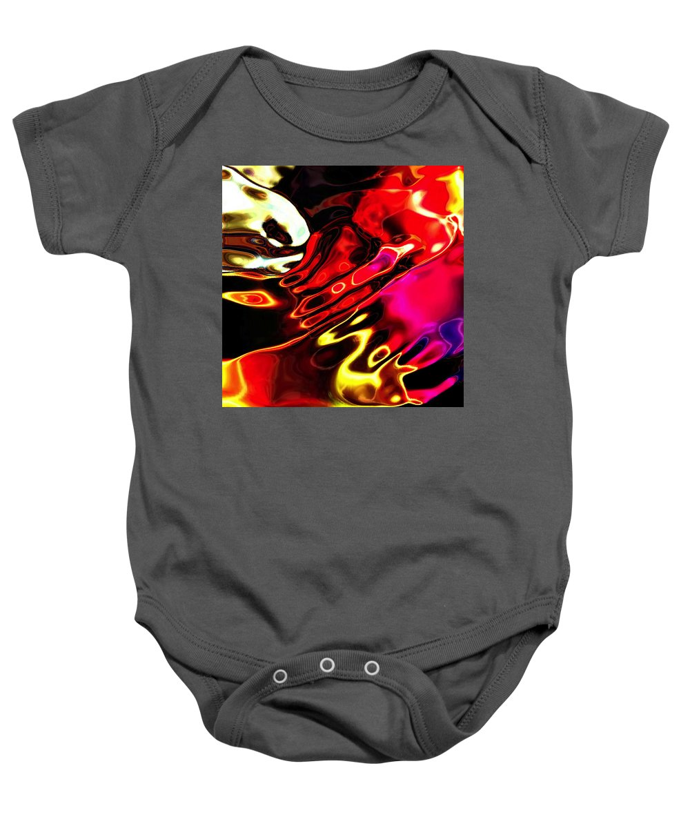 Pinched Baby Onesie featuring the digital art Gamma Swirl Pinch by Paulo Guimaraes