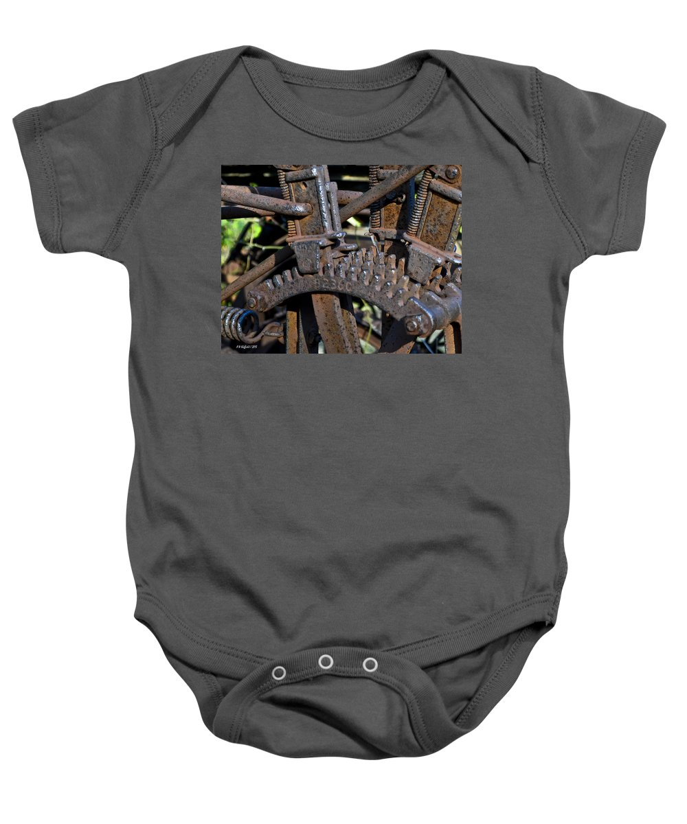 Landscape Baby Onesie featuring the photograph Gears by Allen Sheffield