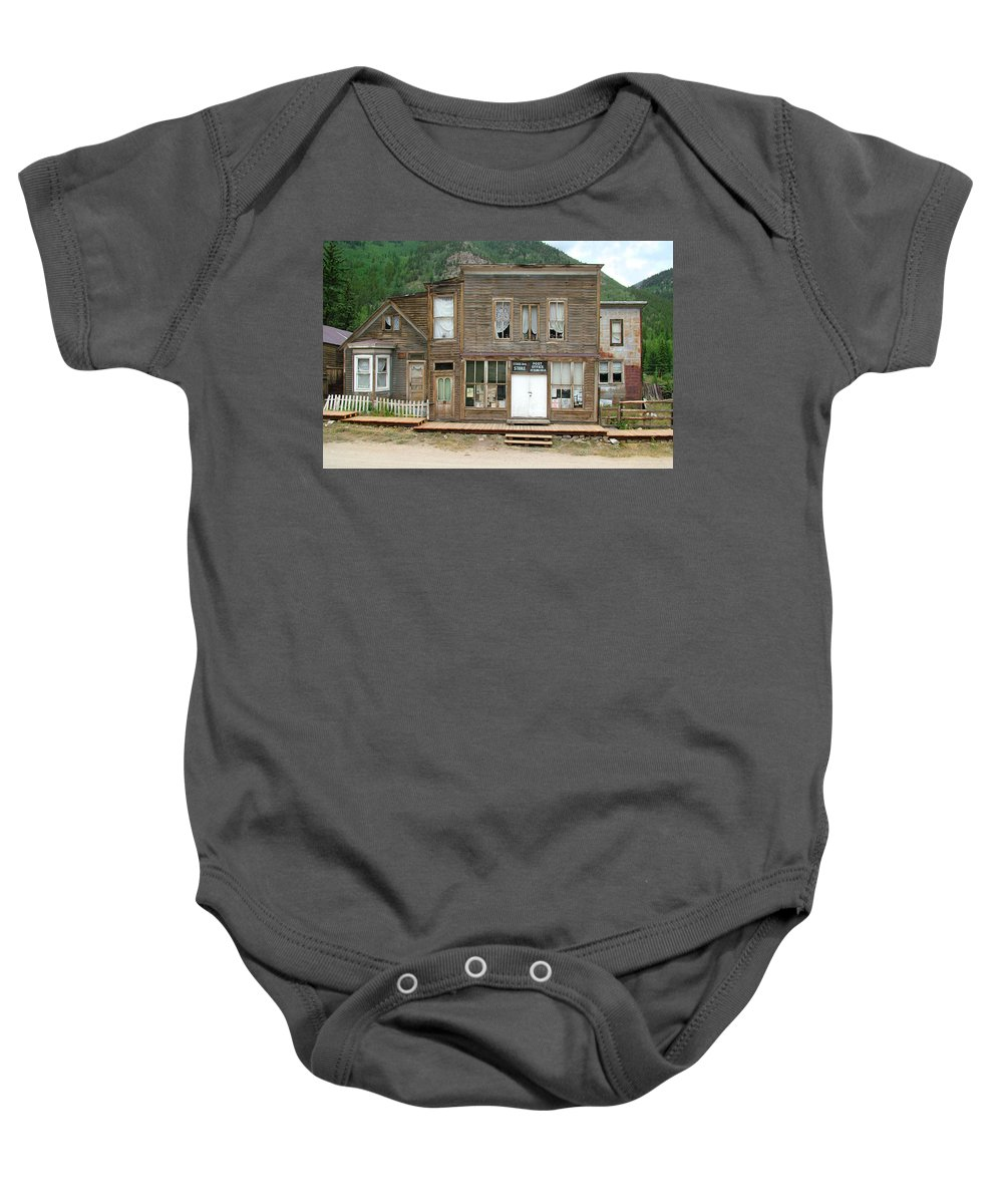 Ghost Towns Baby Onesie featuring the photograph Ghost Town Of Saint Elmo by Ken Smith
