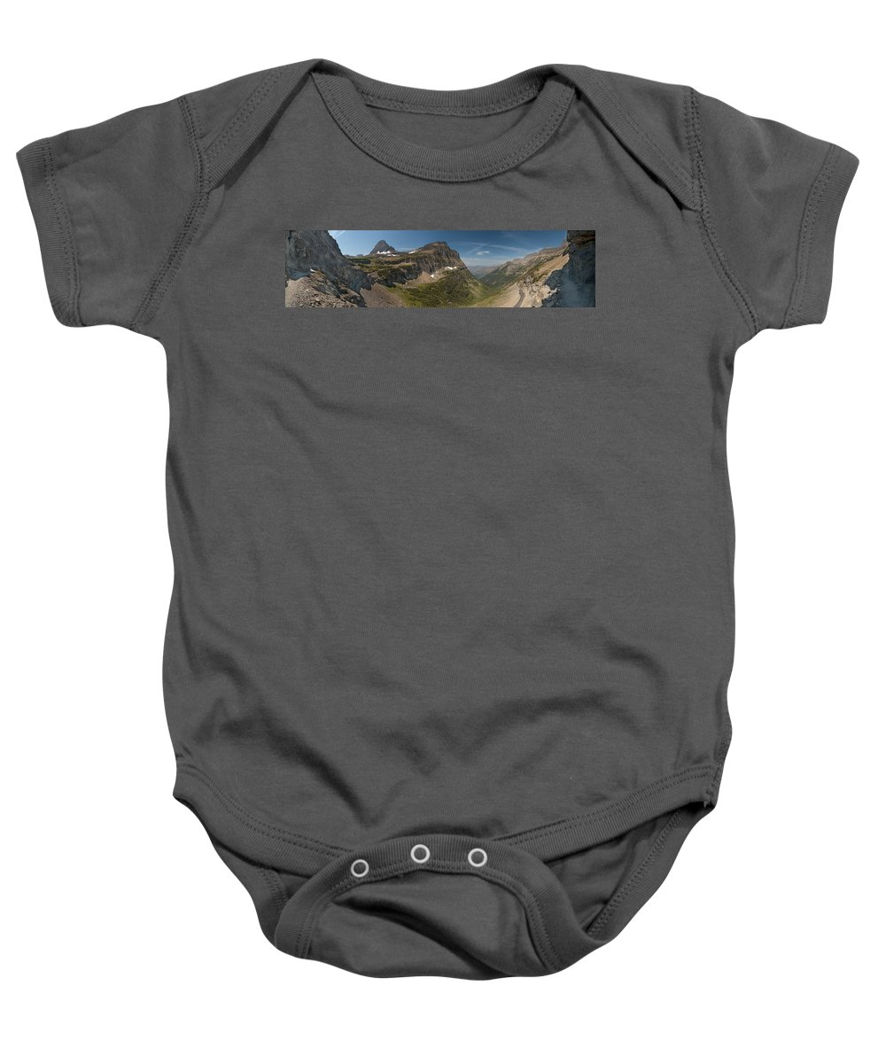 Glacier National Park Baby Onesie featuring the photograph Glacier National Park Panorama by Sebastian Musial