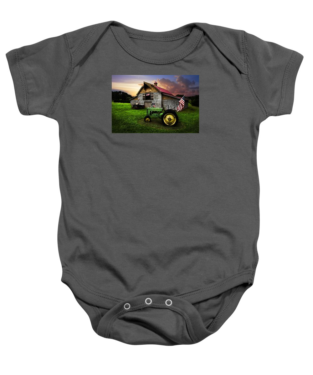 American Baby Onesie featuring the photograph God Bless America by Debra and Dave Vanderlaan