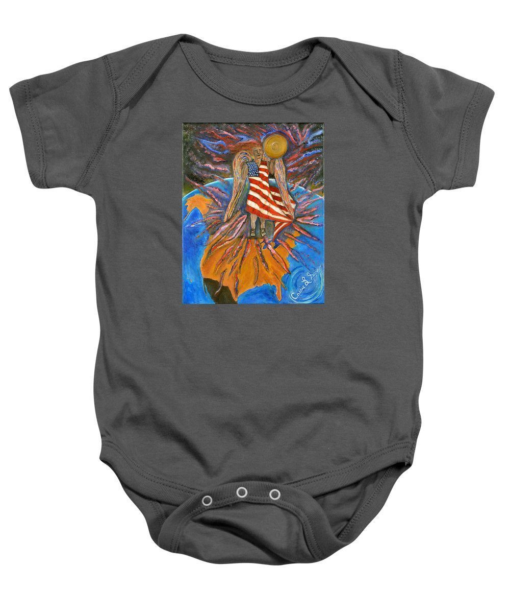 Art By Cassie Sears Baby Onesie featuring the painting God Shed His Grace On Thee by Cassie Sears