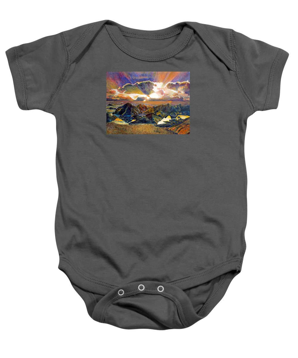 Seascape Baby Onesie featuring the painting God Speaking by Michael Durst
