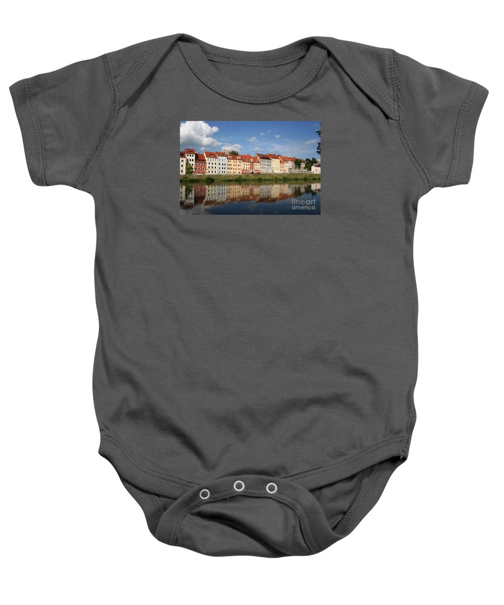 Row Of Houses Baby Onesie featuring the photograph Goerlitz Germany by Christiane Schulze Art And Photography