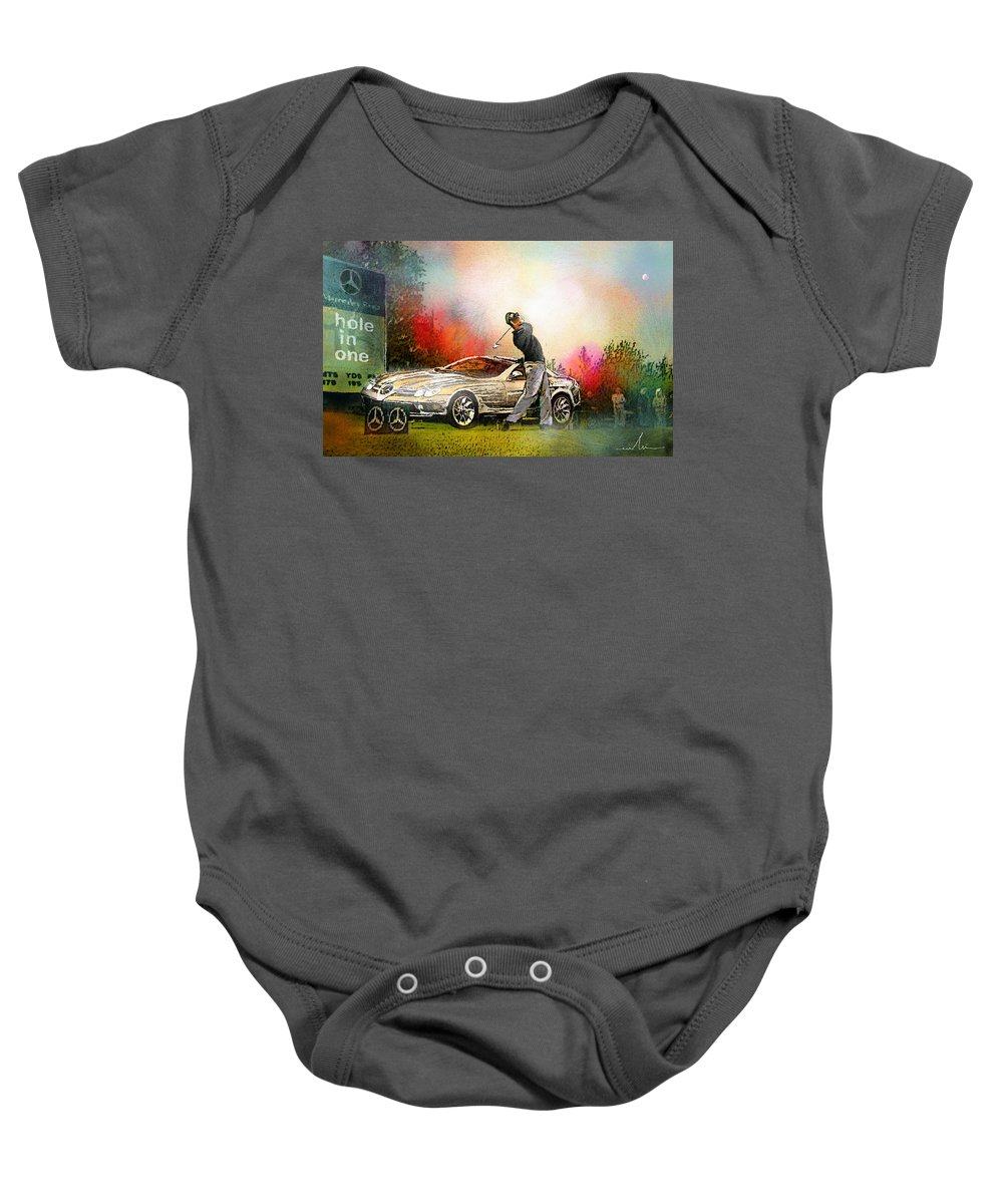 Golf Baby Onesie featuring the painting Golf In Gut Laerchehof Germany 03 by Miki De Goodaboom