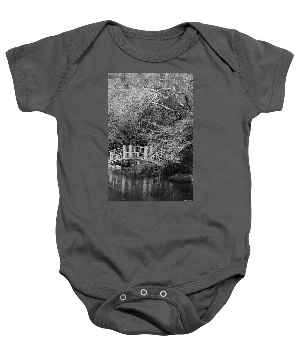 Gothic Bog Walk Baby Onesie featuring the photograph Gothic Bog Walk by Maria Urso