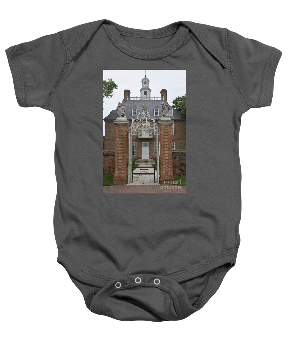 Williamsburg Baby Onesie featuring the photograph Governors Palace by Teresa Mucha