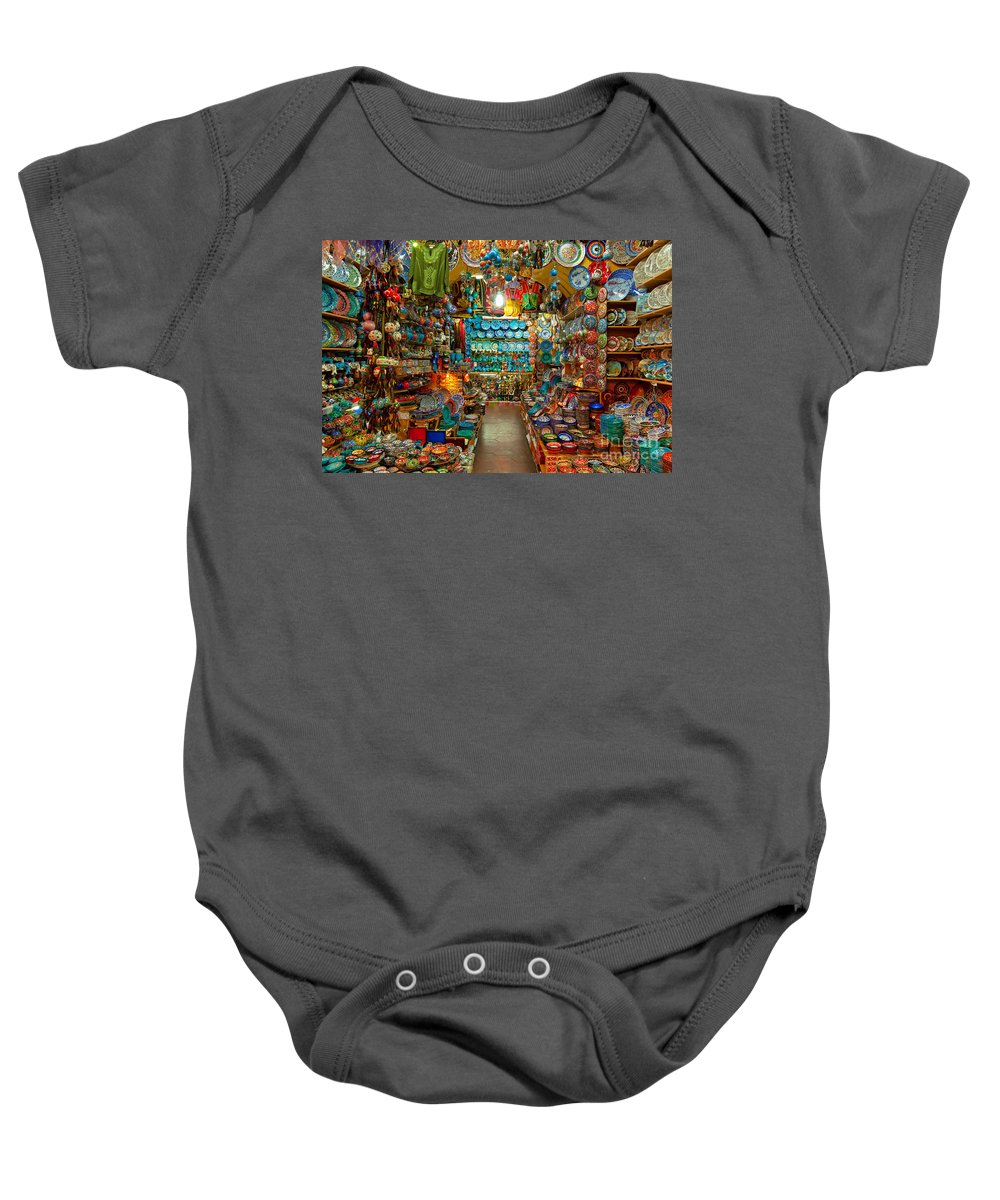 Artisan Baby Onesie featuring the photograph Grand Bazaar - Istanbul by Luciano Mortula