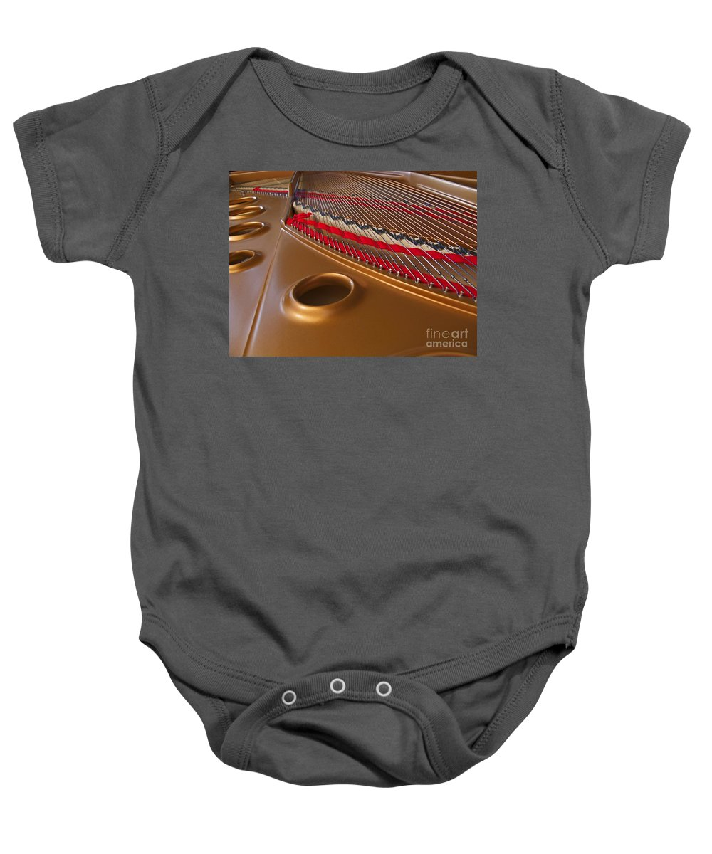 Piano Baby Onesie featuring the photograph Grand Piano by Ann Horn