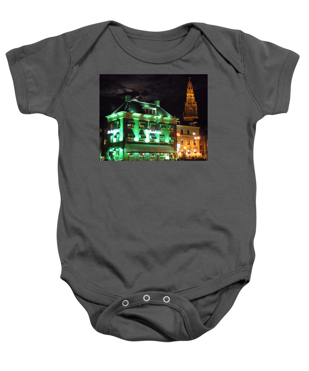 3scape Baby Onesie featuring the photograph Grasshopper Bar by Adam Romanowicz