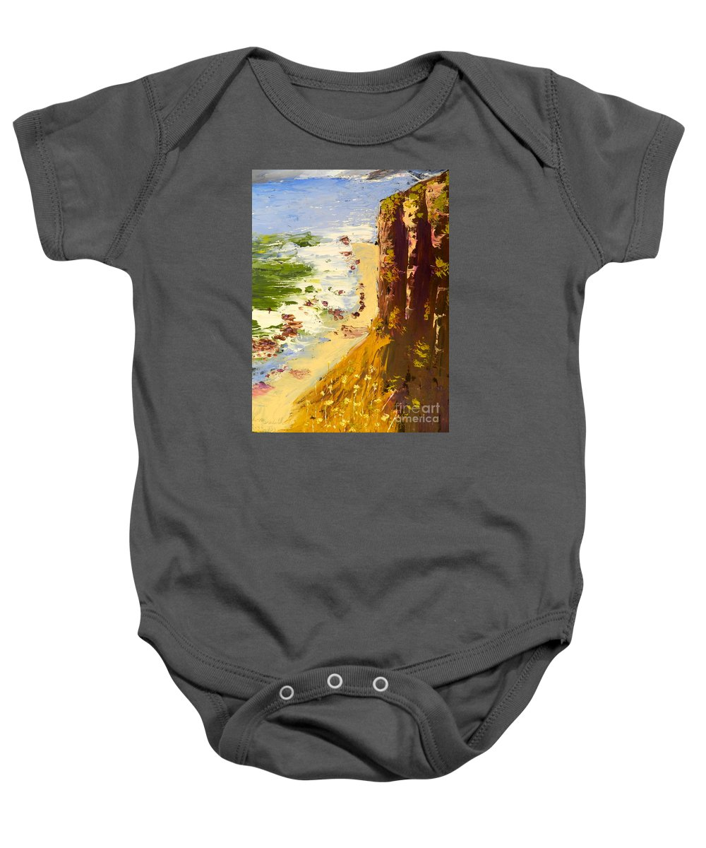 Impressionist Baby Onesie featuring the painting Great Ocean Road by Pamela Meredith