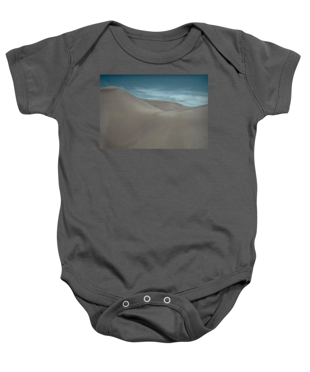 Sand Baby Onesie featuring the photograph Great Sand Dunes by Don Schwartz