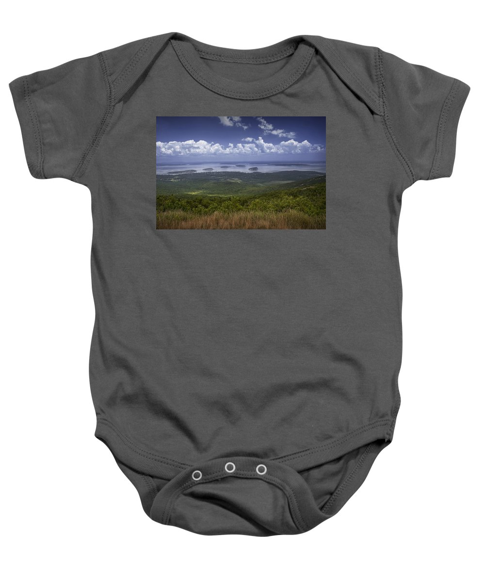 Art Baby Onesie featuring the photograph Great View On Top Of Cadilac Mountain by Randall Nyhof