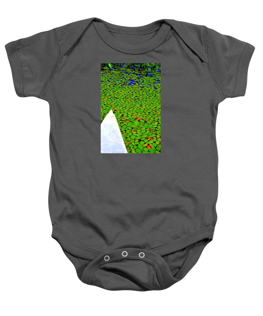 Canoeing Baby Onesie featuring the photograph Green Dream by Zafer Gurel