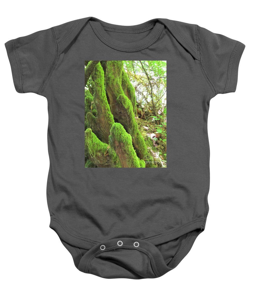 Nature Baby Onesie featuring the photograph Green Moss by Mary Mikawoz
