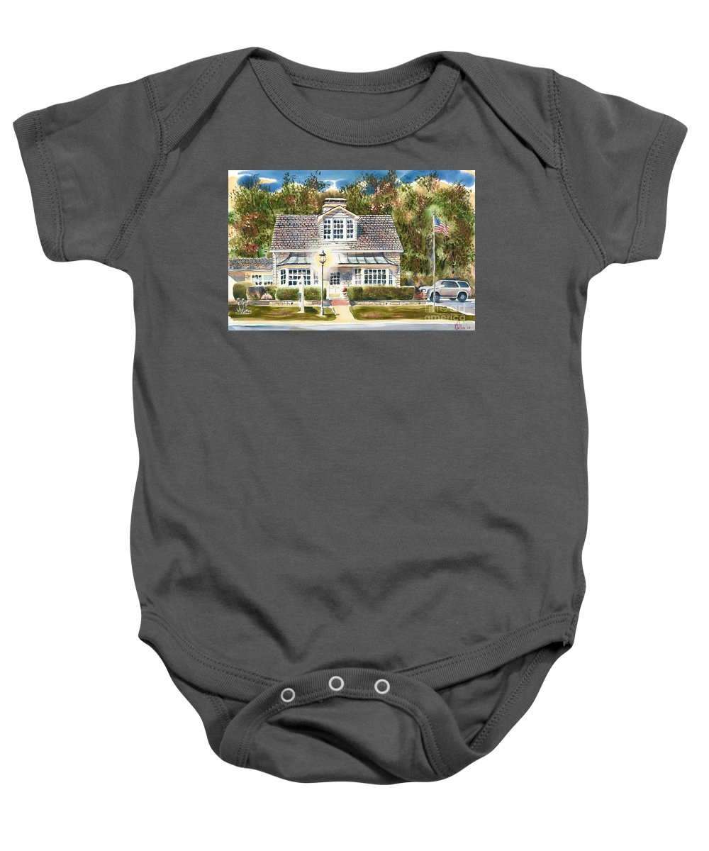 Greystone Inn Ii Baby Onesie featuring the painting Greystone Inn II by Kip DeVore