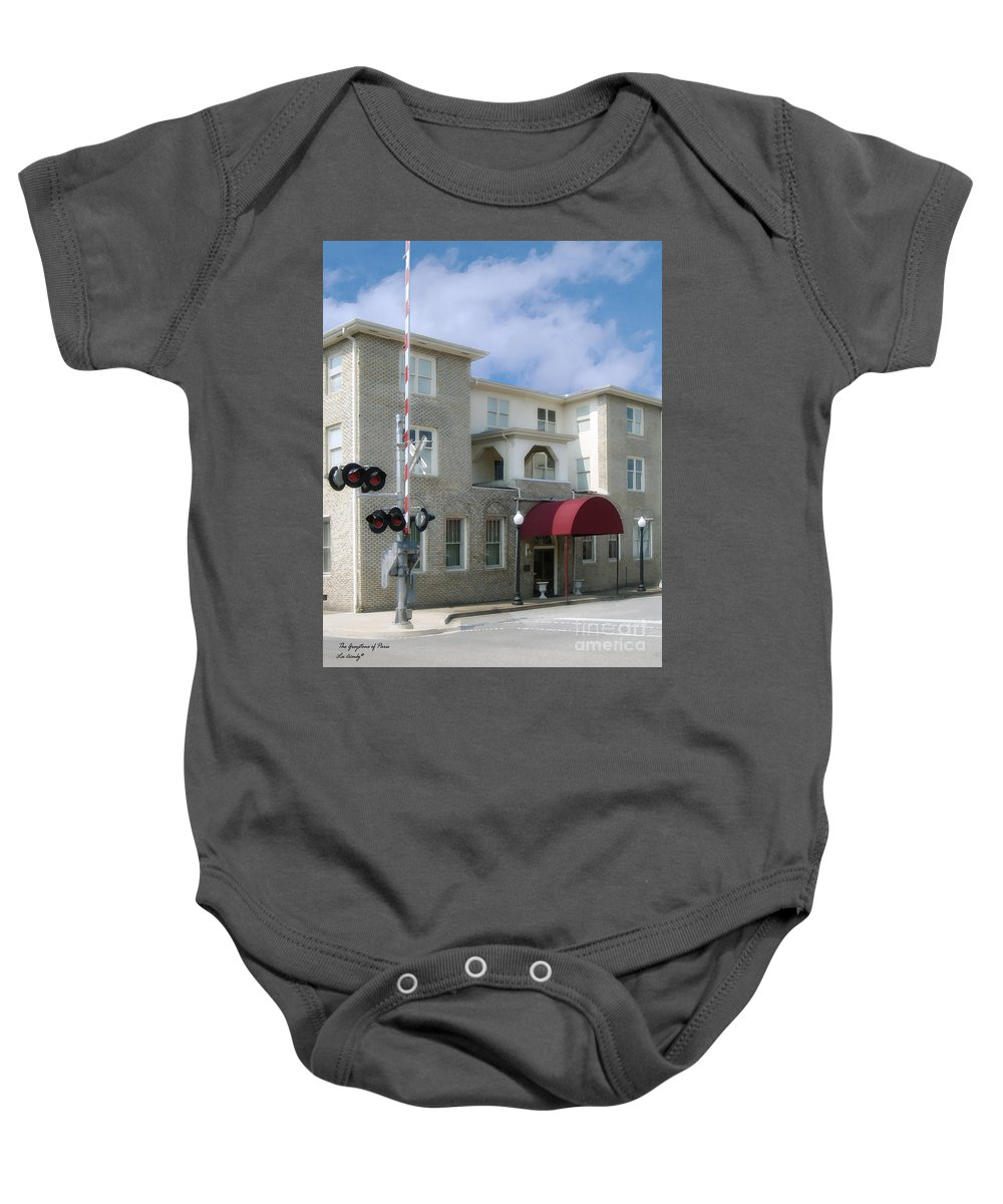 Hotel Baby Onesie featuring the photograph Greystone Of Paris by Lee Owenby