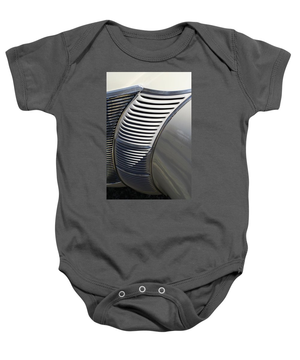 Automobile Baby Onesie featuring the photograph Grill Work by Joe Kozlowski