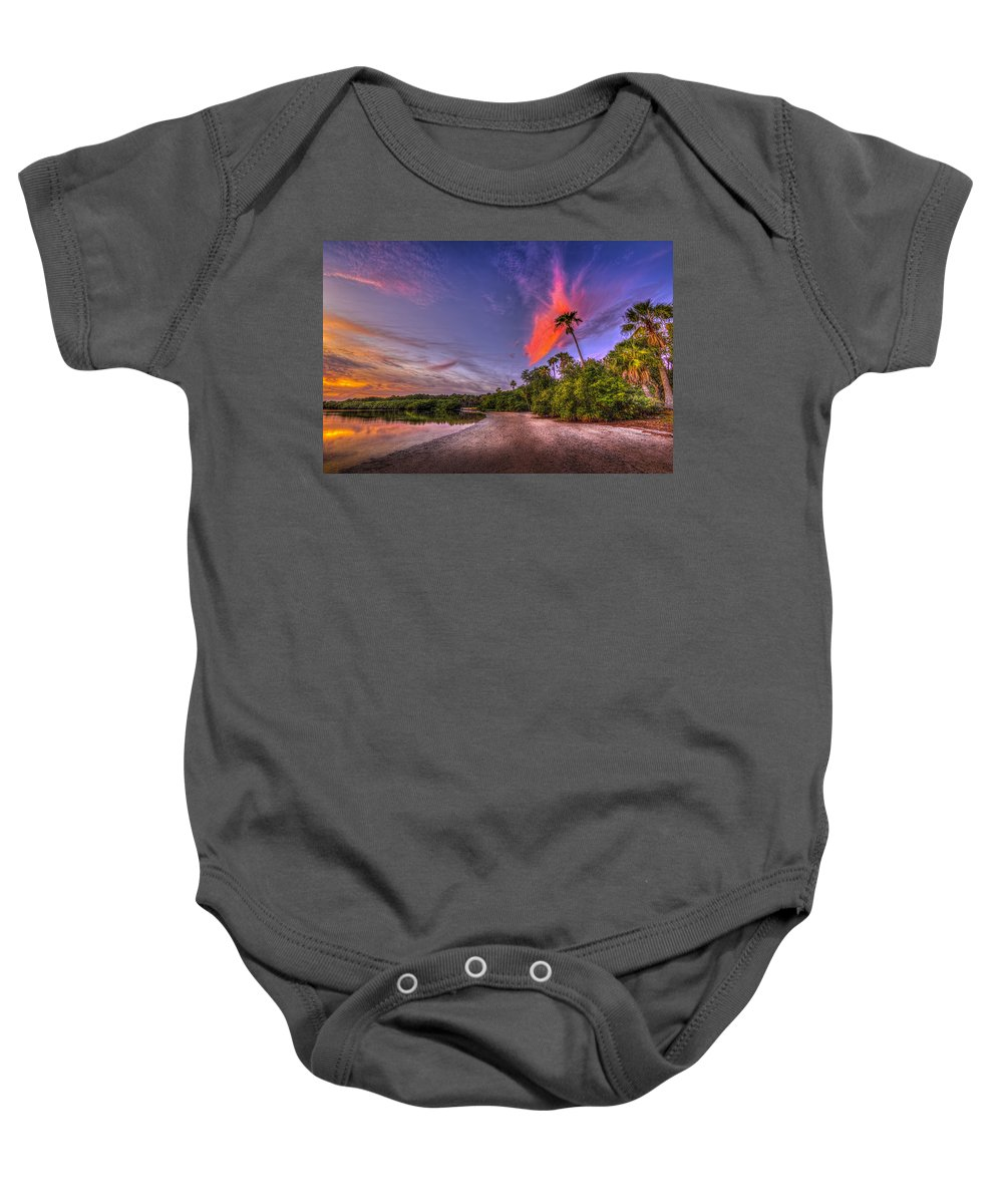 Clouds Baby Onesie featuring the photograph Gulf Breezes by Marvin Spates