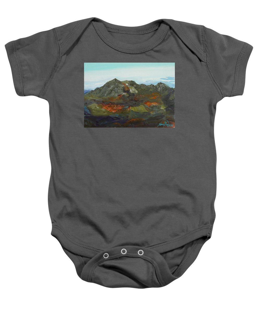 Haleakalā Baby Onesie featuring the painting Haleakala by Joseph Demaree