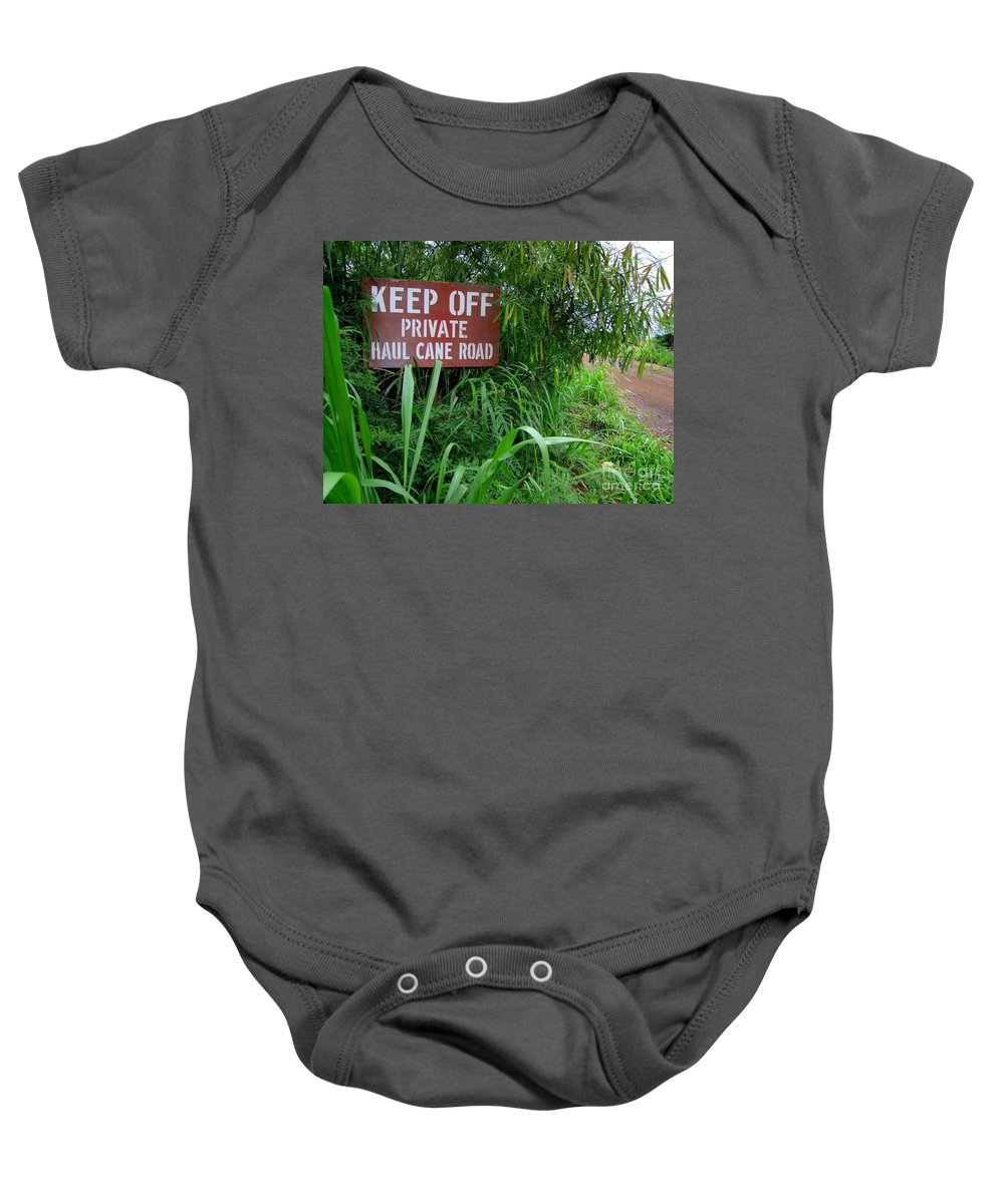 Mary Deal Baby Onesie featuring the photograph Haul Cane Road by Mary Deal