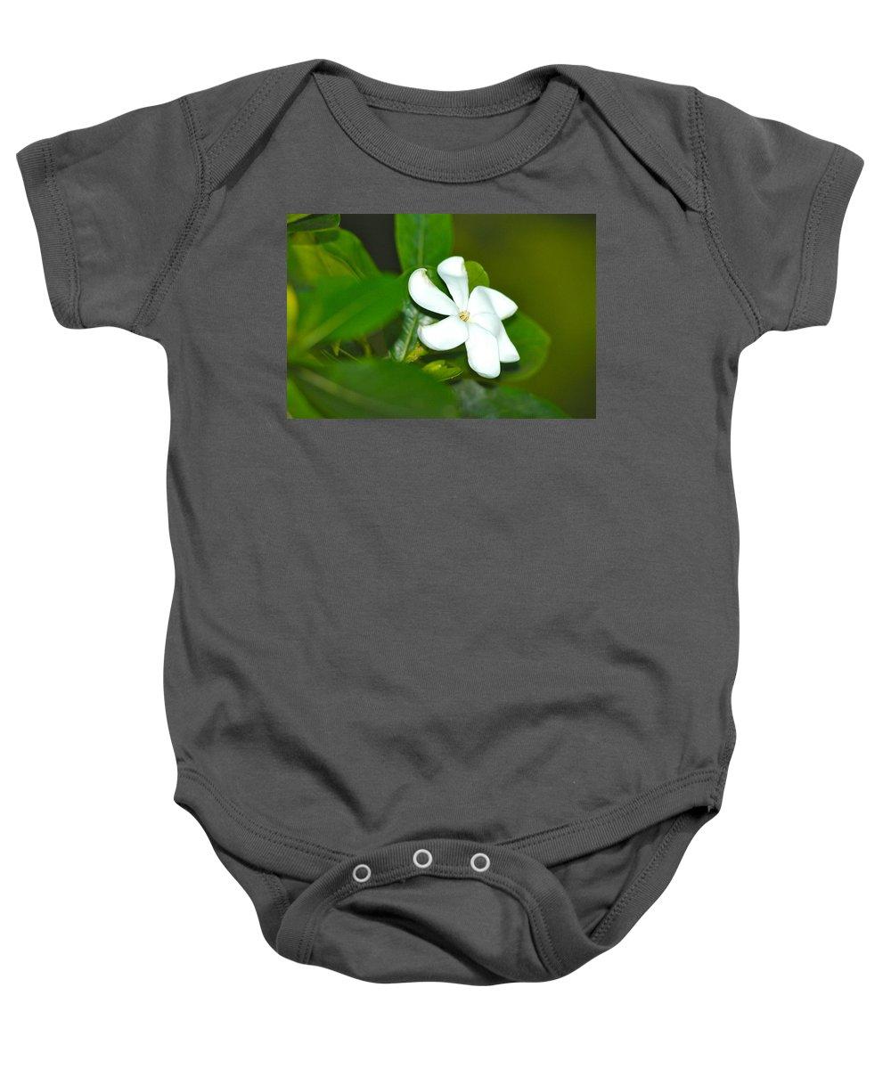 Hawaii Baby Onesie featuring the photograph Hawaiian Gardenia by Lehua Pekelo-Stearns