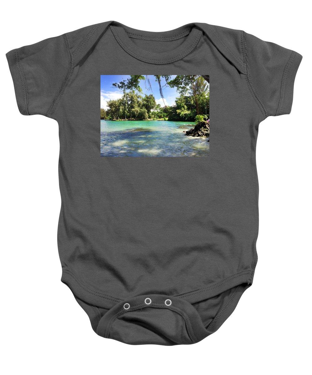 Hawaiian Landscape Baby Onesie featuring the digital art Hawaiian Landscape 4 by D Preble