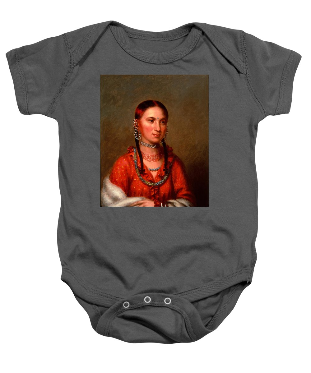 Charles Bird King Baby Onesie featuring the painting Hayne Hudjihini . Eagle Of Delight Oto by Charles Bird King