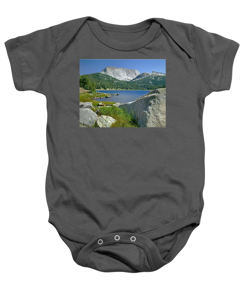 Haystack Mountain Baby Onesie featuring the photograph Haystack Mountain by Ed Cooper Photography