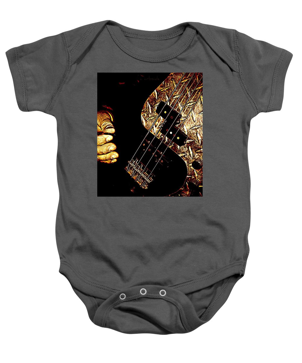 Music Baby Onesie featuring the photograph Heavy Metal Bass by Chris Berry