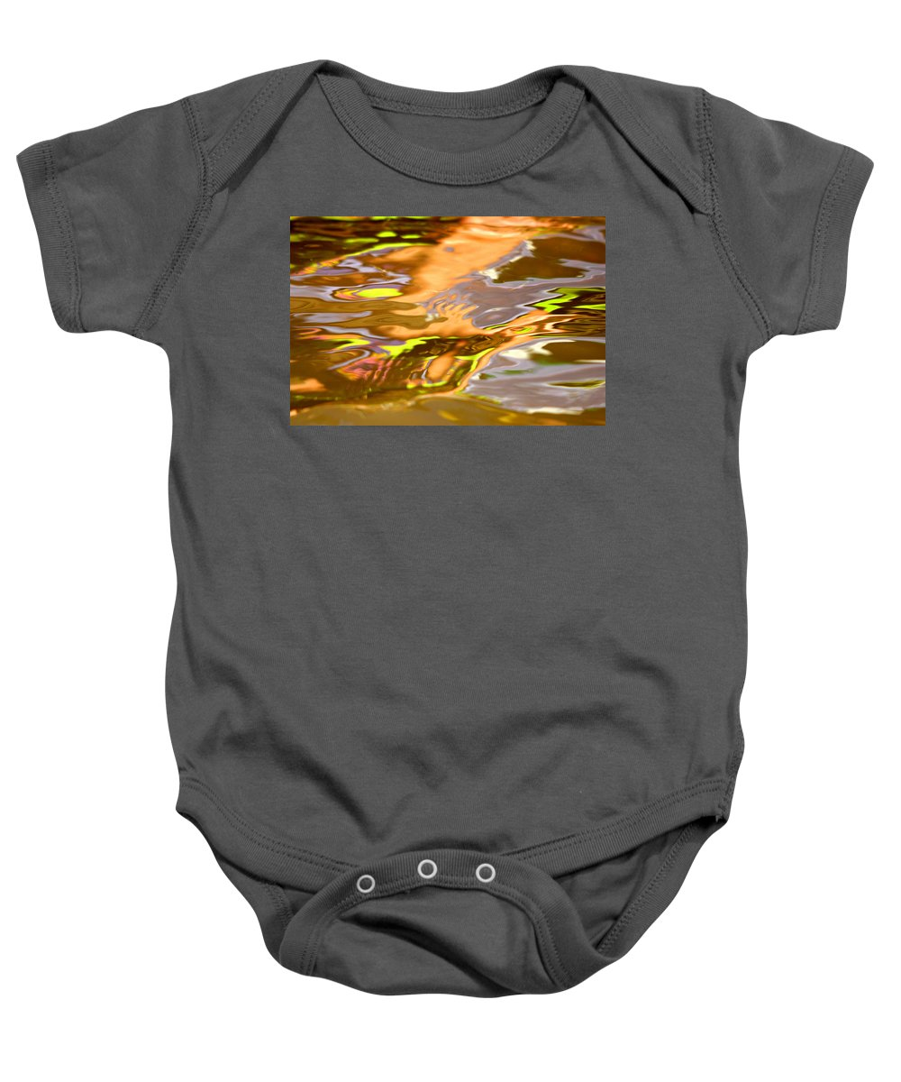 Lake Baby Onesie featuring the photograph Helping Hands by Donna Blackhall