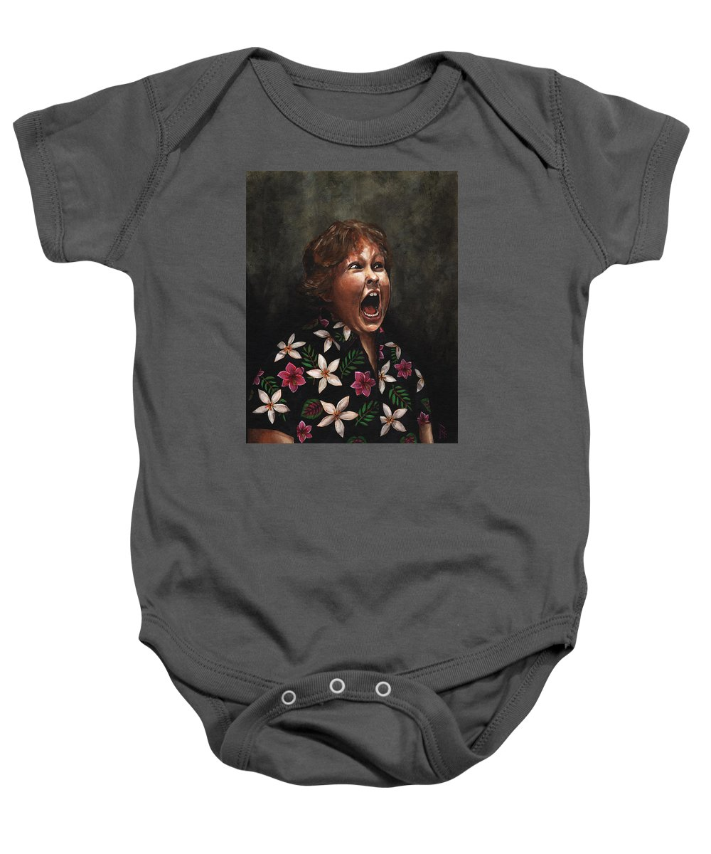 Chunk Baby Onesie featuring the painting Hey Mister by Richardson Comly