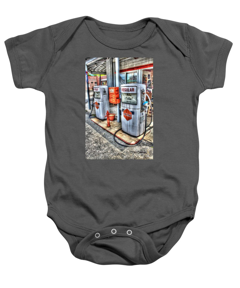 Vintage Baby Onesie featuring the photograph Hi Test And Regular by Dan Stone