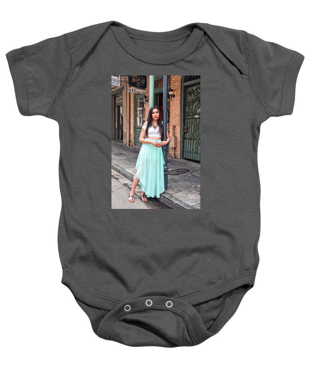 High Baby Onesie featuring the photograph High School Senior Portrait French Quarter New Orleans by Kathleen K Parker