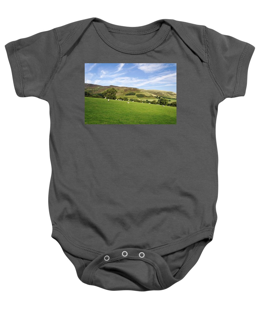 Bright Baby Onesie featuring the photograph Hill Range North Of Edale by Rod Johnson