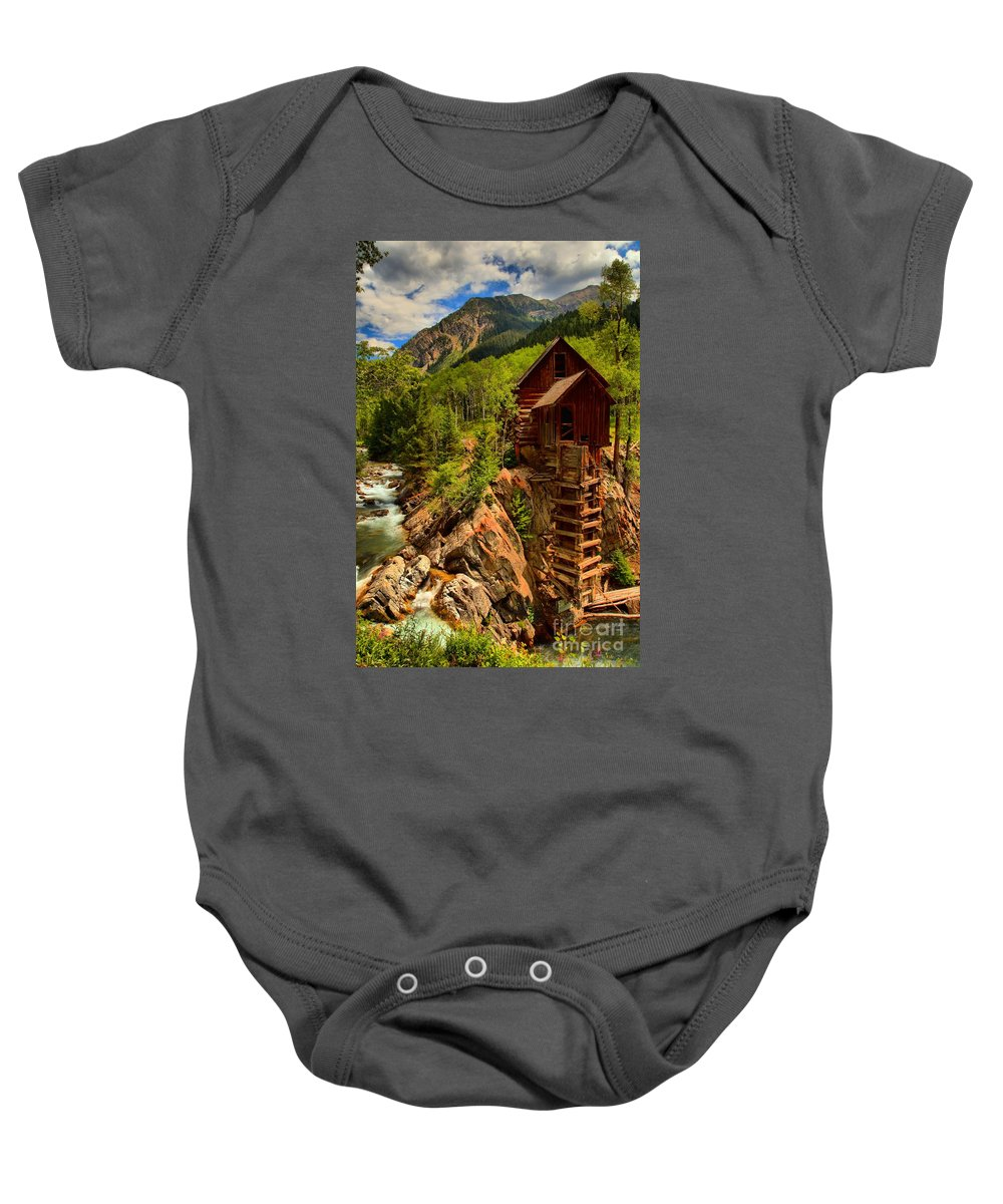 Crystal Colorado Baby Onesie featuring the photograph Historic Colorado by Adam Jewell