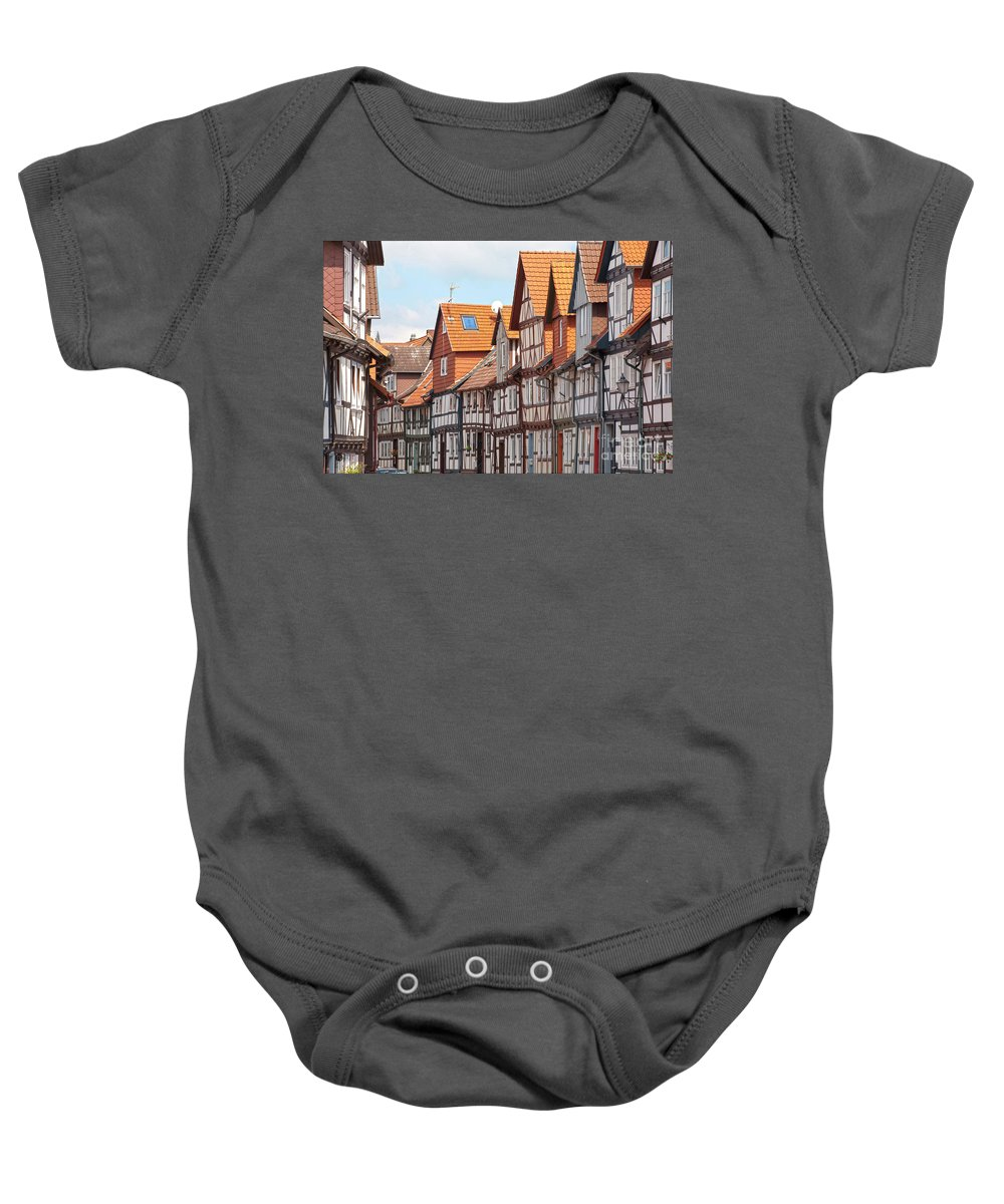 City Baby Onesie featuring the photograph Historic Houses In Germany by Heiko Koehrer-Wagner