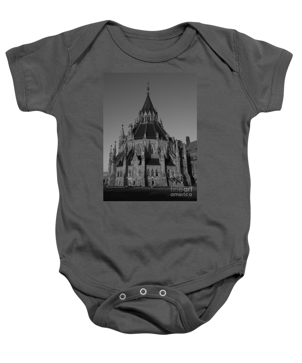 Festblues Baby Onesie featuring the photograph History In Every Corner.. by Nina Stavlund
