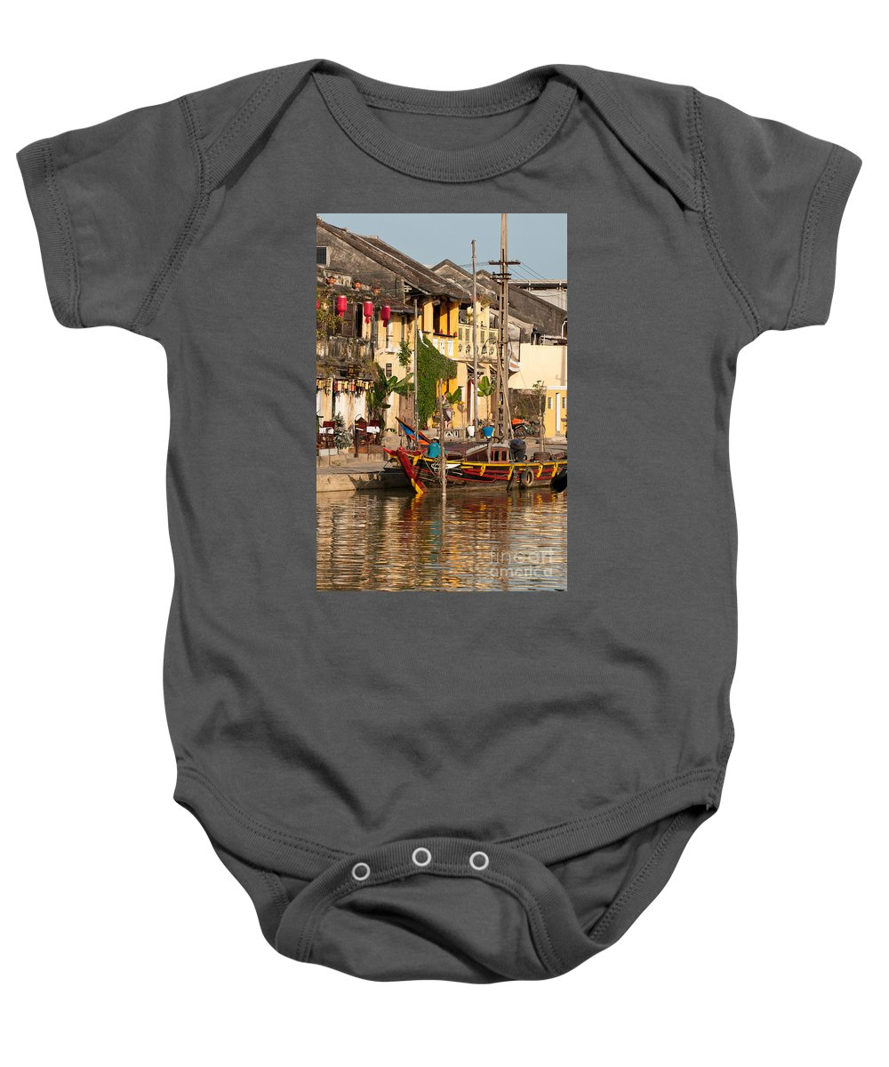 Vietnam Baby Onesie featuring the photograph Hoi An Fishing Boat 02 by Rick Piper Photography