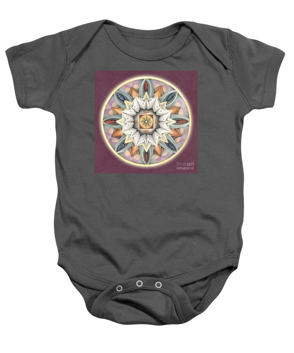 Mandala Art Baby Onesie featuring the painting Honor Mandala by Jo Thomas Blaine
