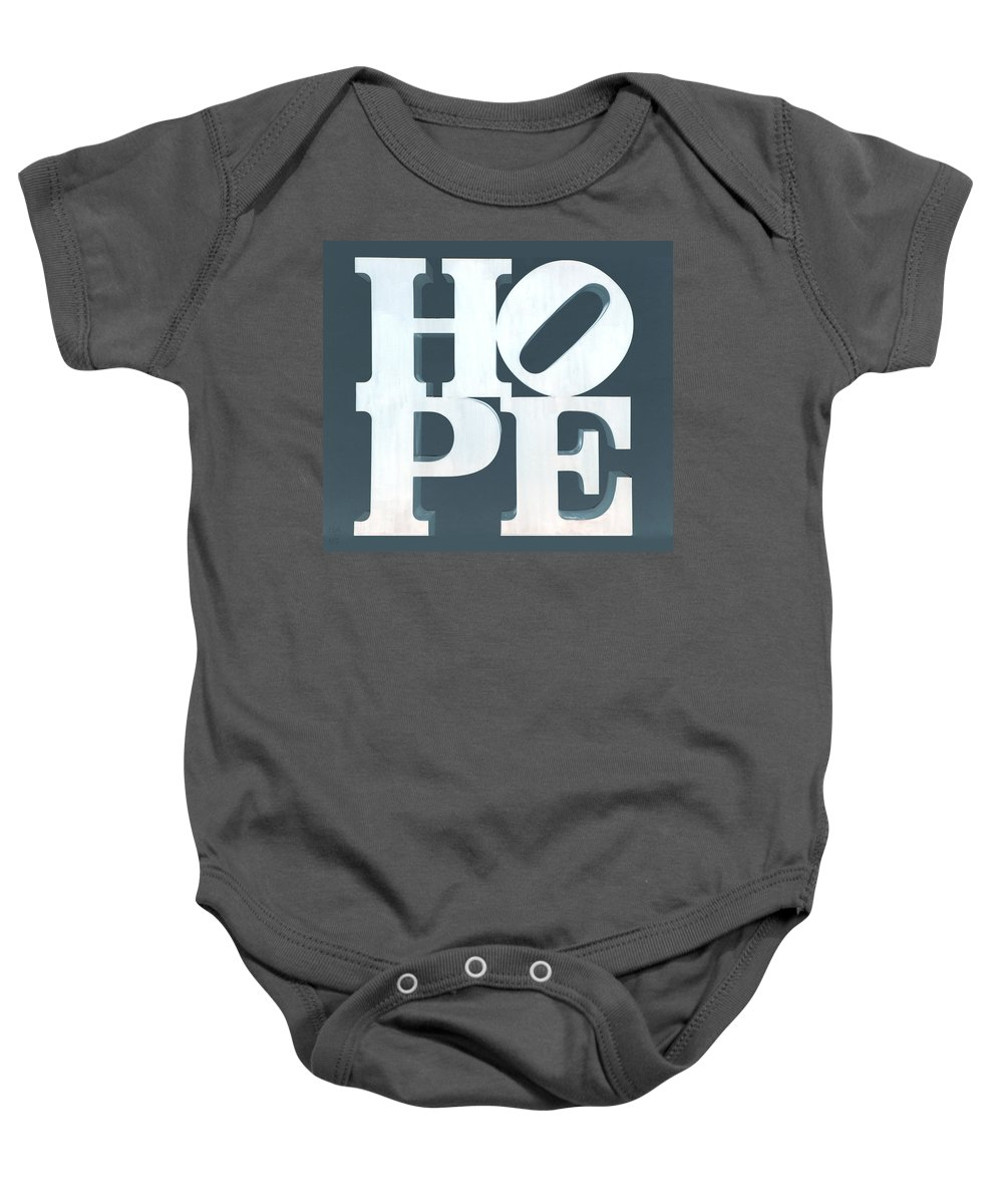 Hope Baby Onesie featuring the photograph Hope Inverted Denim by Rob Hans