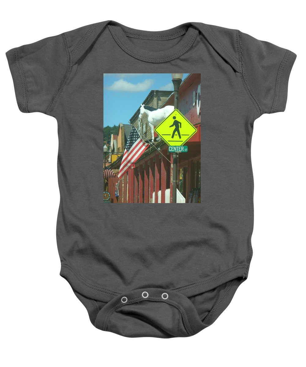 Lyle Baby Onesie featuring the painting Horse High by Lord Frederick Lyle Morris