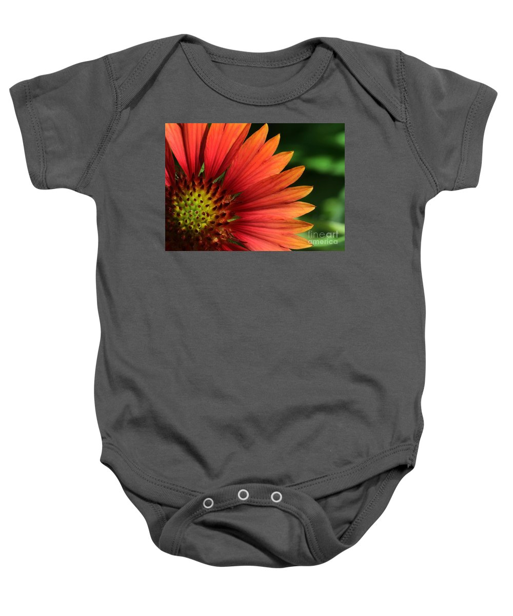 Flower Baby Onesie featuring the photograph Hot Flames by Sabrina L Ryan