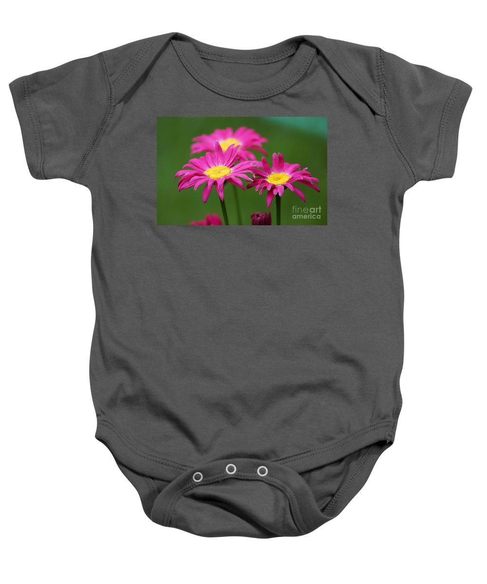 Pink Baby Onesie featuring the photograph Hot Pink by Lori Tordsen